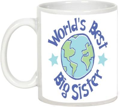 AllUPrints Gift for Raksha Bandhan Rakhi Gifts - World,s Best Big Sister Ceramic Mug