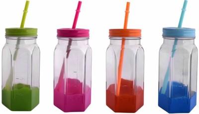 VNU Accent Coloured Drinking Jars Set Of 4 Glass Mug