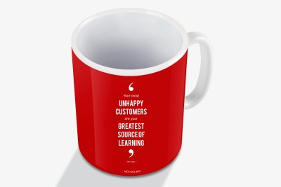 "Motivate Box ""Your most unhappy customers are your greatest source of learning.�  –Bill Gates Ceramic Mug"