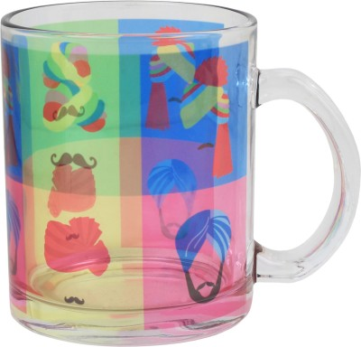 Keep Calm Desi Pagdi Clear  Glass Mug