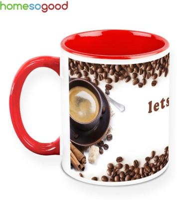 HomeSoGood Let,s Have Some Coffee Ceramic Mug