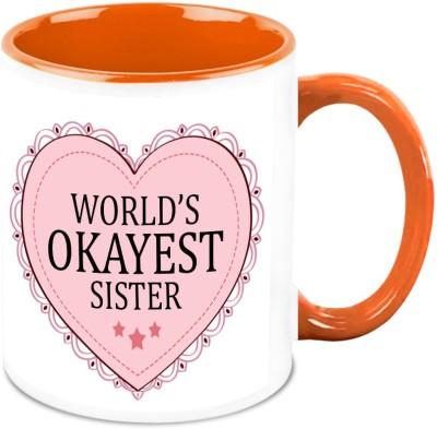 HomeSoGood World's Okay Sister Ceramic Mug