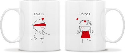 TwoGud Love Is Blind! Bone China Mug