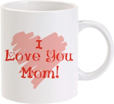 Lolprint I Love You MOM Pink Heart Ceramic Mug