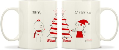 TwoGud Merry Christmas Bone China Mug