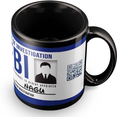 posterchacha Nagu FBI Id Tea And Coffee Ceramic Mug(300 ml)