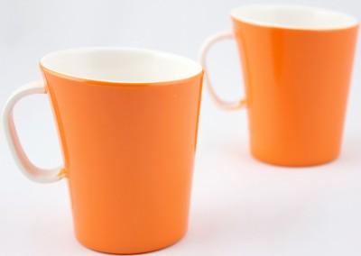 Hi Luxe Dbl Clr Melamine 42249 Dual - Orange Melamine Mug