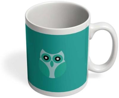 PosterGuy Cool Light Blue Cute Little Owl Bird Cartoon Cool Light Shines Colors Cute Little Owl Bird Cartoon, Owl, Owl Crafts And Flat Owls, Cutie: Colorful Owls. Ceramic Mug