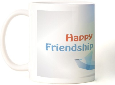 Rockmantra Sail Boat Happy Friendship Day Ceramic Mug