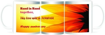 Refeel Gifts Happy Anniversary - Hand in Hand Together Ceramic Mug