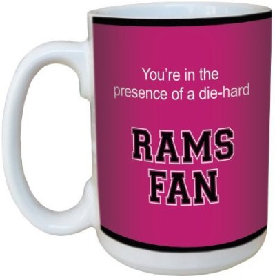 Tree-Free Greetings Greetings lm44438 Rams College Football Fan Ceramic  with Full-Sized Handle, 15-Ounce Ceramic Mug