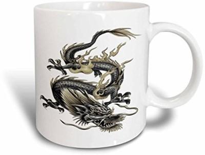 3dRose mug_63149_1 Lucky Dragon Dragon, Chinese Dragon, Year of The Dragon, Chinese New Year, Gift Idea, Fathers Day Ceramic , 11 oz, White Ceramic Mug