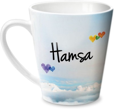 Hot Muggs Simply Love You Hamsa Conical  Ceramic Mug