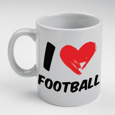 Prokyde Prokyde I love Football  Ceramic Mug