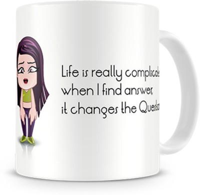 Print Haat Unpredictable Life Quote Ceramic Mug