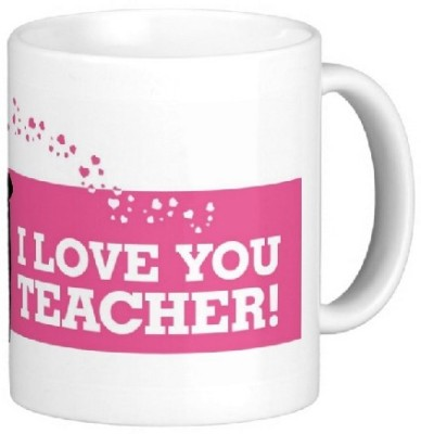 Easyhome I Love You Teacher ( female) Ceramic Mug