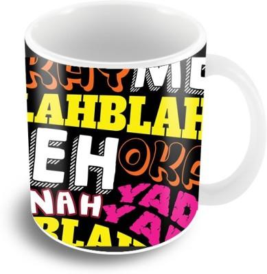 Thecrazyme Blahh Blahh Coffee Ceramic Mug