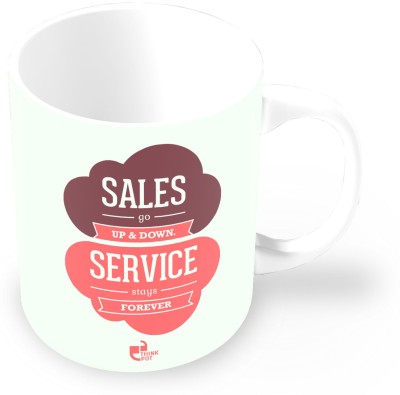 Thinkpot Sales Go Up & Down Service Stays Forever - Jason Goldberg Ceramic Mug