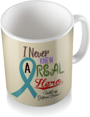 SKY TRENDS I Never Knew A Real Hero Untill Will My Girlfriend Become With Colorful Name Cool Gifts For Birthday And Anniversary Coffee Ceramic Mug