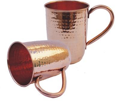 Veda Home & Lifestyle Copper Hammered  Set Copper Mug