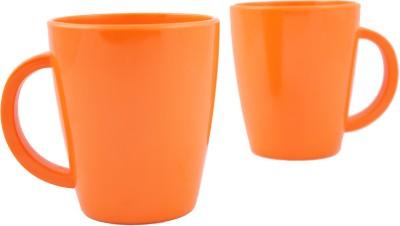 Hi Luxe Solid Clr Melamine 43052 Solid - Orange Melamine Mug