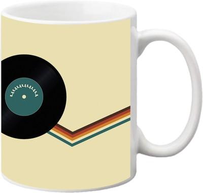 ezyPRNT Musical Disc Ceramic Mug