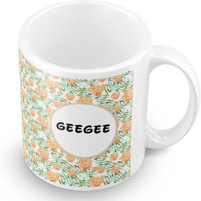 posterchacha Geegee Floral Design Name  Ceramic Mug