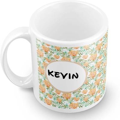 posterchacha Kevin Floral Design Name  Ceramic Mug