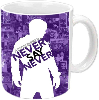 Jiya Creation1 Justin Bieber Multicolor White Ceramic Mug