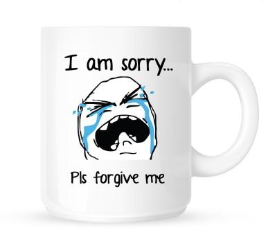Huppme I Am Sorry Cry Face Ceramic Mug