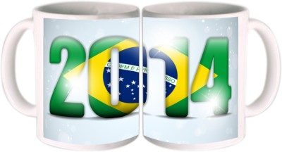 Shopkeeda FIFA 2014 FIFA Fever Brasil Ceramic Mug