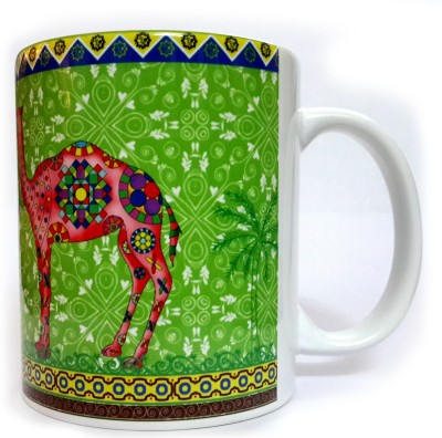 Indiavibes Printed Ceramic Coffee Tea  with Camel 2 Theme Ceramic Mug