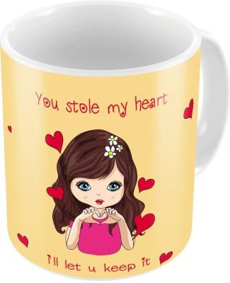 Home India Printed Coffee  n Filled Cushion Pair 376 Ceramic Mug