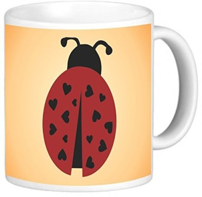 Rikki Knight LLC Knight Photo Quality Ceramic Coffee , 11 oz, Ladybug Ceramic Mug