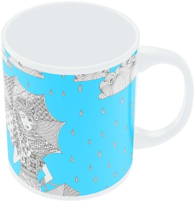 PosterGuy Walking in The Rain Art Illustration Art Illustration Ceramic Mug