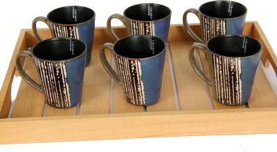 Devnow Stoneware Moody Azure Six s 280ml Porcelain Mug