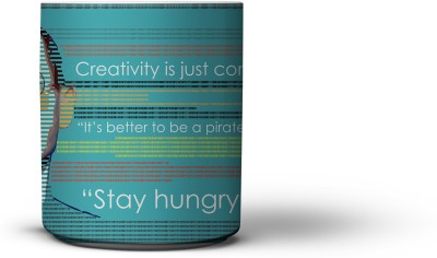 The Nodding Head 300ml Creativity Blue - Steve Jobs Ceramic Mug