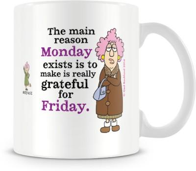 Tashanstreet Aunty Acid Main Reason Of Monday Ceramic Mug