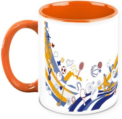 HomeSoGood Lets Play Some Games Ceramic Mug