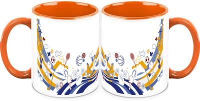 HomeSoGood Lets Play Some Games (QTY 2) Ceramic Mug