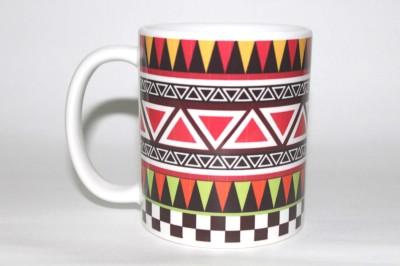 Uvam Aztec Bright Bone China Mug