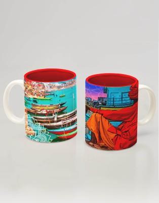 Tangerine Indie Tadka Banaras Porcelain Mug