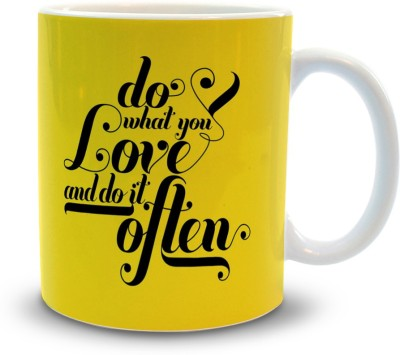 Shoppers Bucket Do What You Love Ceramic Mug