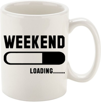 Oh Fish WEEKEND LOADING GRAPHIC PRINTED COFFEE Ceramic Mug