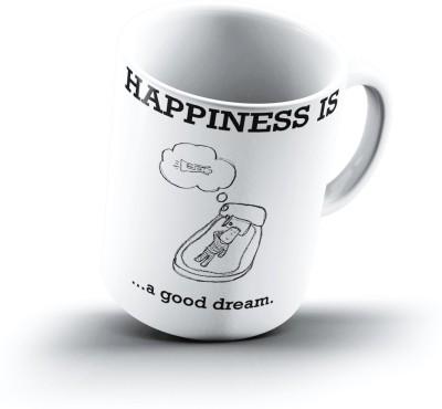 Ucard Happiness Is2122 Bone China, Ceramic, Porcelain Mug