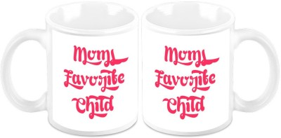 HomeSoGood Moms Favorite Child(Set Of 2) Ceramic Mug