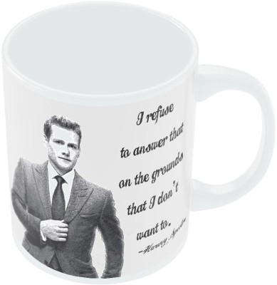 PosterGuy I Refuse To Answer| Harvey Spector Suits Quote Sketch Illustration Ceramic Mug