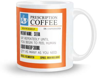 posterchacha PersonalizedPrescription Tea And Coffee  For Patient Name Seera For Gift And Self Use Ceramic Mug
