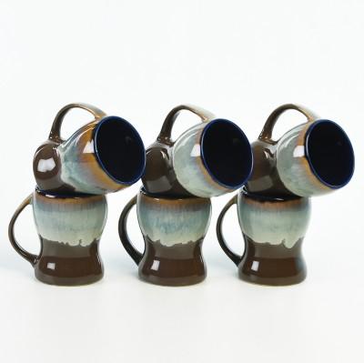 Cultural Concepts Studio Brown Kurve Tea Cups Ceramic Mug