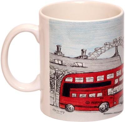 IMFPA Red Bus Ceramic Mug